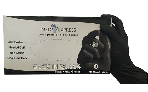 Back In Black Nitrile Powder Free Exam Gloves