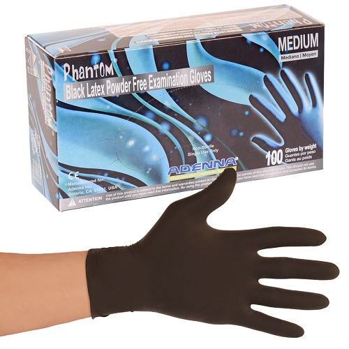 Phantom Black Latex Exam Gloves